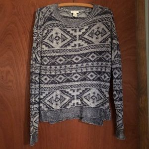 Navy and gray Forever 21 sweater